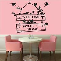 Wall Stickers Home Sweet Home....Quote Vinyl Wall Art 55cm x 45cm  Shabby Chic
