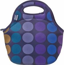 Neoprene Gourmet Getaway Lunch Tote, Built, Plum Dot