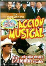 """LOS TIGRES DEL NORTE * New Sealed DVD * """"Accion Musical"""" (Jaripeo con Musica)"""