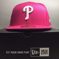 New Era 59Fifty Philadelphia Phillies SIZE 7 Fitted Baseball Cap  Free Post