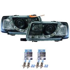Scheinwerfer Set für Audi 80 B4 Typ 8C Bj. 91-94 LED Dragon Lights klar/schwarz