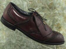 Dexter Men Golf Wigtip Brogue Oxford 10.5C Shoe Leather Burgundy Lace Up