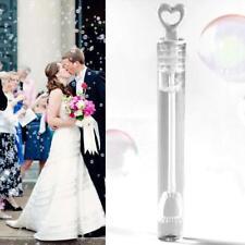 Bulk x 24 White Love Heart Bubble Wands WITH Soap Liquid- Wedding Favours 10.5cm
