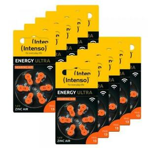 60 Intenso Energy Ultra Typ 13 Zink-Luft Hörgerätebatterien im 6er Blister