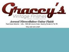 -Teal Green- Gracey's Vintage Finishes Nitrocellulose Guitar Lacquer Aerosol.