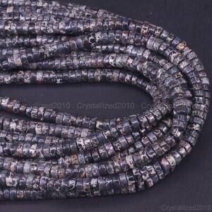 "Natural Sea Sediment Jasper Gemstone Heishi Spacer Loose Beads 4mm 6mm 8mm 16"""