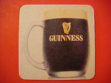 Old Beer Coaster ~ GUINNESS Draught Stout ~ Brewed in Dublin, Ireland Since 1759