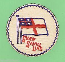 #D84. SHAW SAVILL LINE SHIPPING DRINKS COASTER