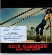 (DA391) Kitty Clementine,  Blow That Horn - 2012 DJ CD