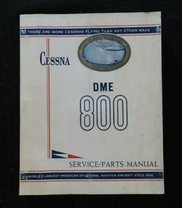 1965-66 CESSNA 800 DME DISTANCE GROUND SPEED MEASURING UNIT SERVICE PARTS MANUAL