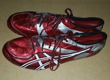 Asics Japan Lite-Ning Sprint Spike Men's 11.5 Red Track And Field Running