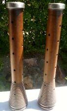 "Pair (2) of Vintage Wood Textile Spindles:  12.0"" Tall"