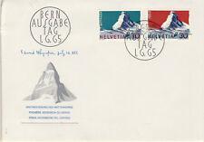 Ersttagsbrief Schweiz MiNr. 820-821 - Schweizer Alpen
