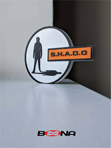 Decorative S.H.A.D.O (Dinky Toys) self standing logo display SHADO