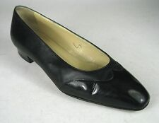 Sidonie Larizzi Pumps Size 6 US 36 1/2 EU ITALY Black Vintage Leather Patton
