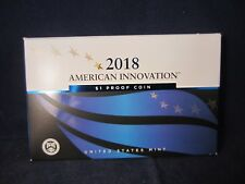 2018-S One MIRROR PROOF AMERICAN INNOVATION DOLLAR Coin Includes COA & BOX