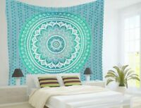 UK Seller Ombre Mandala Tapestry Hippie Table Cover Throw Christmas Gift Deco Du