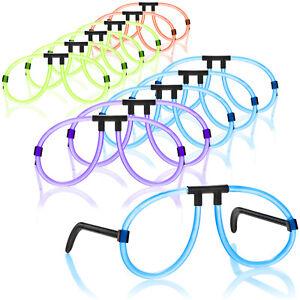 12x Knicklichter-Brille - auffällige Partybrille aus Leuchtstäben, coole Brille