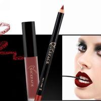 Sexy Matte Lipstick+Lip Liquid Pencil Gloss Liner Makeup Long Lasting Waterproof