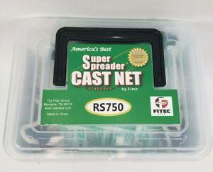 """FITEC RS750 Super Spreader Cast Net #10140 - 4ft Radius, 3/8"""" Mesh, 3/4lb"""