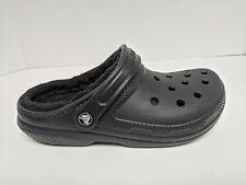 Crocs Classic Lined Clogs, Black, Womens 7 M