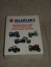 Suzuki Motorcycle/Atv Parts Price & Procedure Manual (2017)