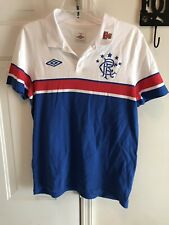 Rangers Football Club Polo Size L Shirt Jersey Mens Soccer Umbro Scottish