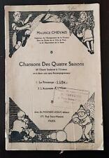 """CHANSONS DES QUATRE SAISONS """"L'ETE"""" (2) par M. CHEVAIS. Chants scolaires."""