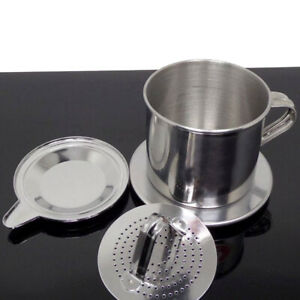 NE_ Vietnam Vietnamese Stainless Filter Steel Coffee Cup Drip Press Maker Infuse