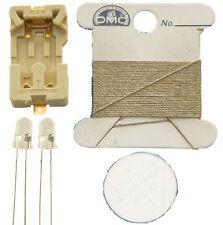 Conductive Thread Kit Light Stitches Blue Conductive Cotton