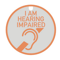 I Am Hearing Impaired Tag & Lanyard - Bright, Bold & Designed to Raise Awareness