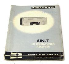 Instruction Book / Service Manual für Collins 51N-7 Empfänger / Receiver