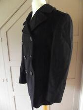 Vintage NAVAL CLOTHING DEPOT 1950s Korean War Black 100% Wool Pea Coat Size 40