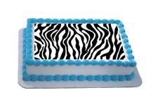 Novelty Zebra Print Themed A4 Edible Icing Cake Topper birthday