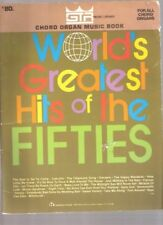 B001C9U2SS Worlds Greatest Hits of the Fifties [Sheet Music] Chord Organ Music