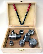 Wood Lathe 8 Pc Multi Spur Drive Center Set + Wood Case fits Shopsmith & 1-8 New
