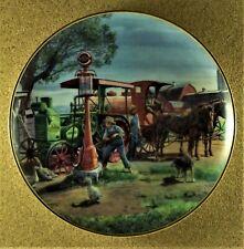 Fill 'Er Up Plate Farmland Memories Mort Kunstler Tractor Horses Barn Farm Dog