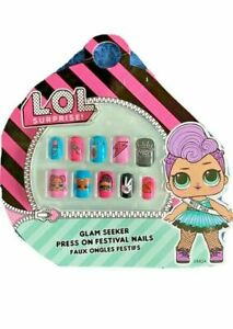 🔥LOL SURPRISE STICK GIRLS NAILS GLAM SEEKER EASY PRESS ON  ✨✨PARTY FUN GIFT✨✨