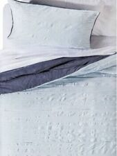 Textured Blue Twin Xl Bed in Bag Comforter Plush Dorm Set 5 pc