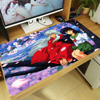 Anime Inuyasha Mouse Pad Higurashi Kagome Huge Keyboard Desk Mat Game Playmat