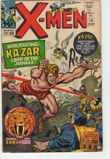 "Marvel Uncanny X-Men Vol 1 Issue 10 ""The Coming of... Ka-Zar!"" 1965"