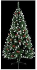 1.8m NEVE Punta Berry & Pine Cone Natale Albero di Natale