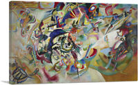 ARTCANVAS Composition VII 1913 Canvas Art Print by Wassily Kandinsky