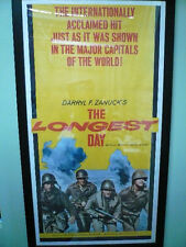 "The Longest Day 1962 Movie Poster 78""x41""  3sheet  Excel Cond. Linen Backed"