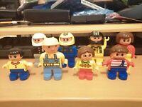 8 ASSORTED LEGO DUPLO FIGURES BOB BUILDER 3 CHILDREN FEMALE 3 BIKERS POLICE