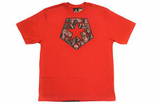 TRIBAL GEAR TSTAR MOUSE FACES LOGO TEE T-SHIRT RED AUTHENTIC - IMPORTED FROM USA