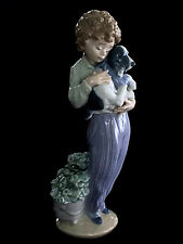 LLADRO Figurine MY BUDDY Boy With Dog 1989 SOCIETY PIECE #7609 Antonio Ramos HTF