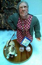 Nana's Family Richard Simmons Realistic Adorable Old Woman Figure Doll w Dog