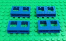 *NEW* Lego Blue 4x2x1 Window Frames Trains Buildings Modular Houses - 4 pieces