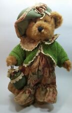 Avon Collectible Teddy Bear Victorian Plush with Hat Satchel Stand